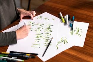 Brushpen-Lettering mit Bettina Berrut_Online-Kurs LandLiebe