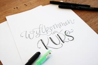 Handlettering mit Schriftvarianten